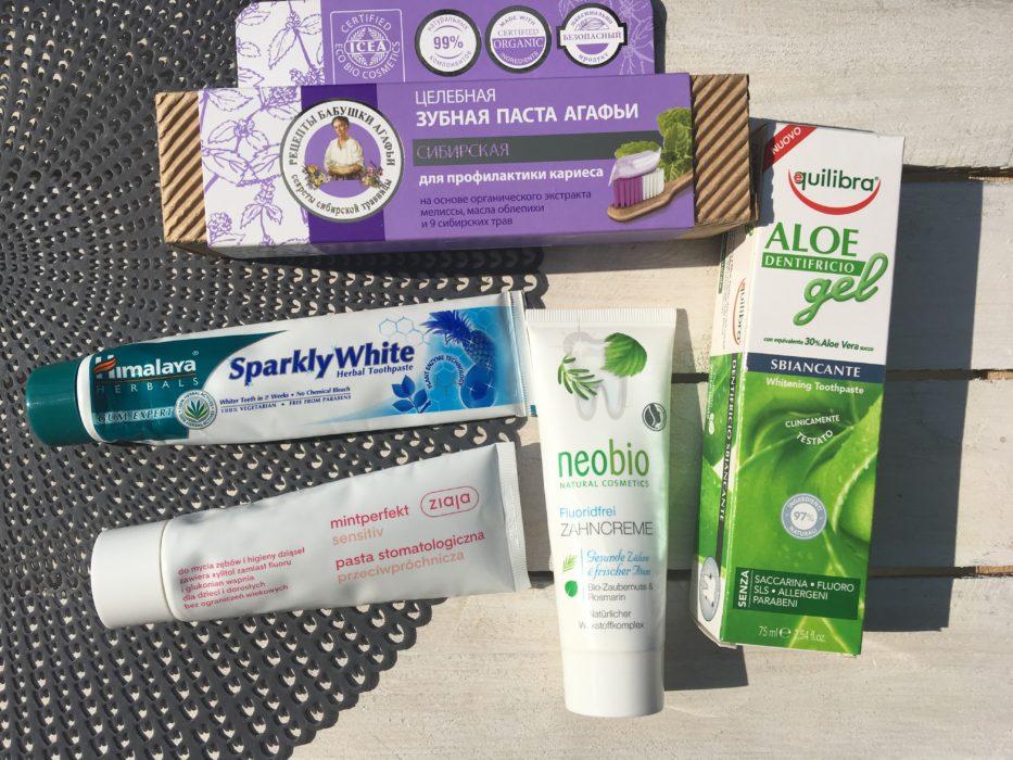 pasty do zębów bez fluoru