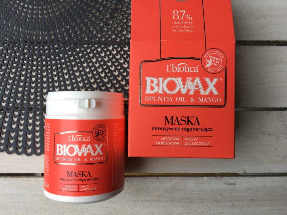 maska biovax opuntia oil & mango