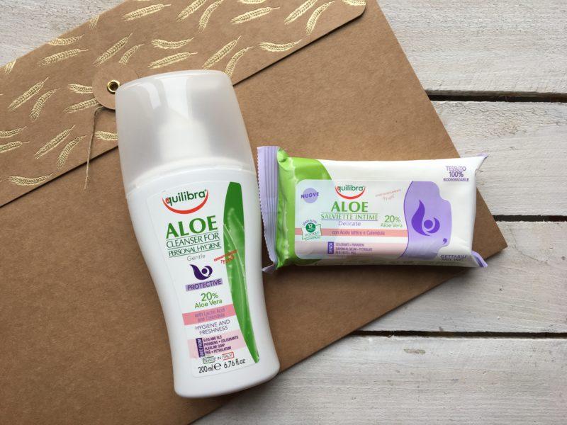 płyn i chusteczki do higieny intymnej Equilibra