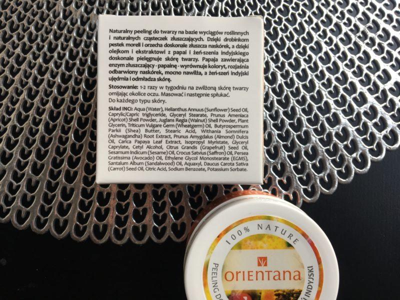 Naturalny peeling do twarzy z papają Orientana