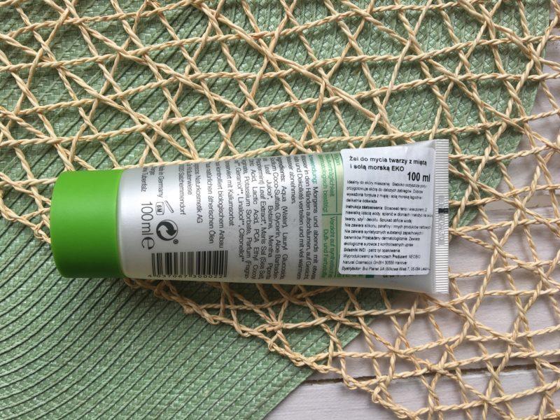 Żel do mycia twarzy z bio-miętą i solą morską NeoBio