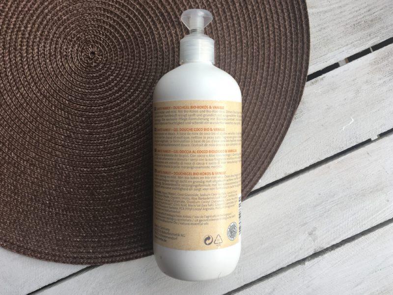 Naturalny żel po prysznic z kokosem i wanilią Sante