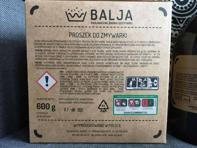 Ekologiczne zmywanie z BALJA